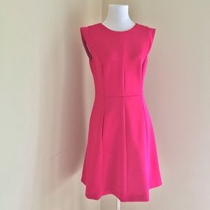 Vince Camuto Pink Fit and Flare Cap Sleeve Dress